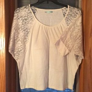 Maurices Dolman Tee with Lace Sleeves